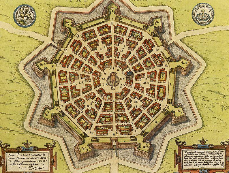 13 Palmanova plan en 1600